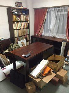 整理前の書斎