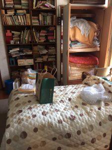 遺品整理前の寝室の状態