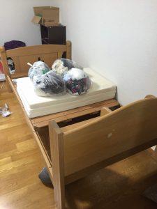 ベッドの回収前