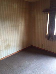 片付け後の寝室の状態