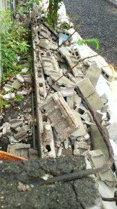 解体後のブロック塀