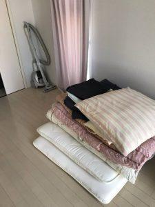 布団、絨毯も回収しました。