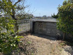 解体後のお庭です。スッキリです。
