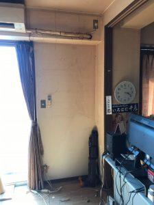 ダーツ台回収後の室内風景