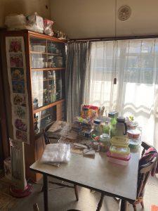 生前整理前の室内画像です。